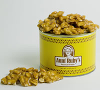 1 lb. Tin of Peanut Brittle